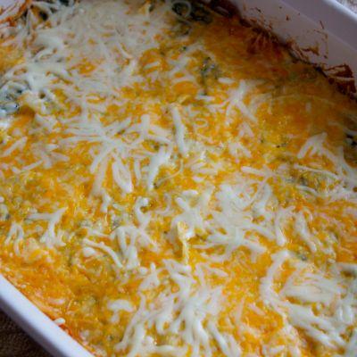 Cheesy Spinach and Onion Casserole
