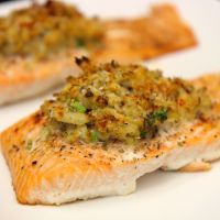 Crab Stuffed Salmon