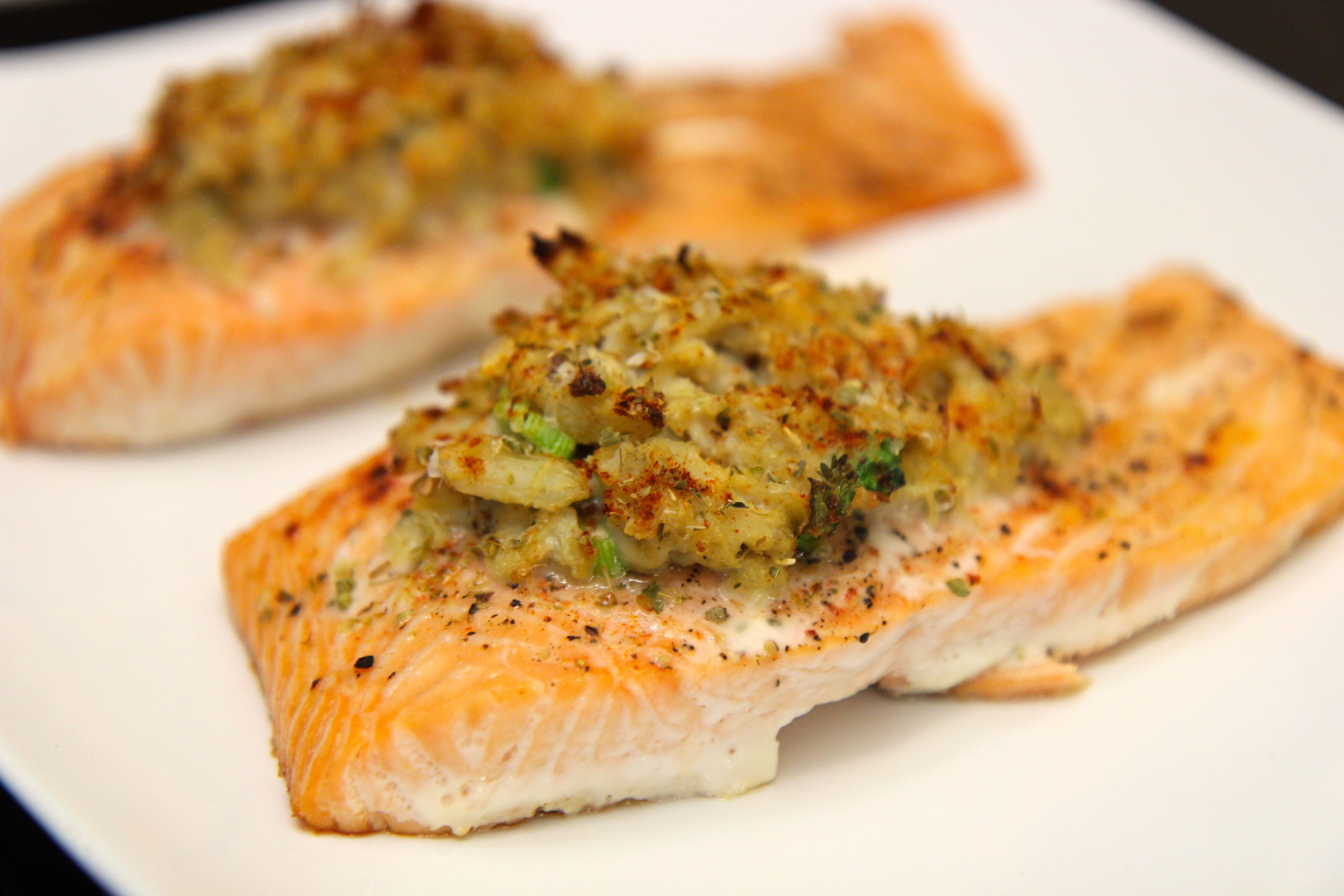 Crab Stuffed Salmon Video Recipe Cooked By Julie