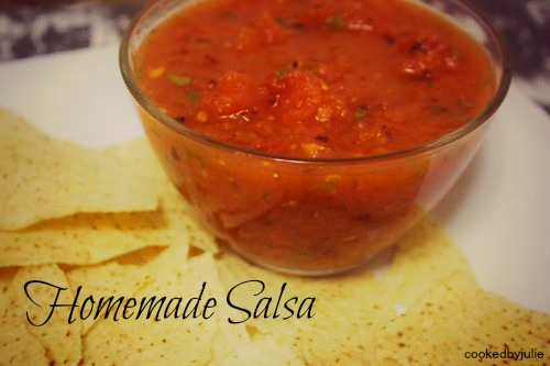This fresh homemade salsa is the perfect recipe and makes a great addition to any party or taco night