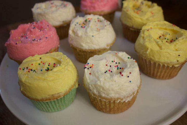 Classic Vanilla Cupcake Recipe by Cooked By Julie. Use this cupcake base in countless other recipes - it's simple, easy, and perfectly delicious.