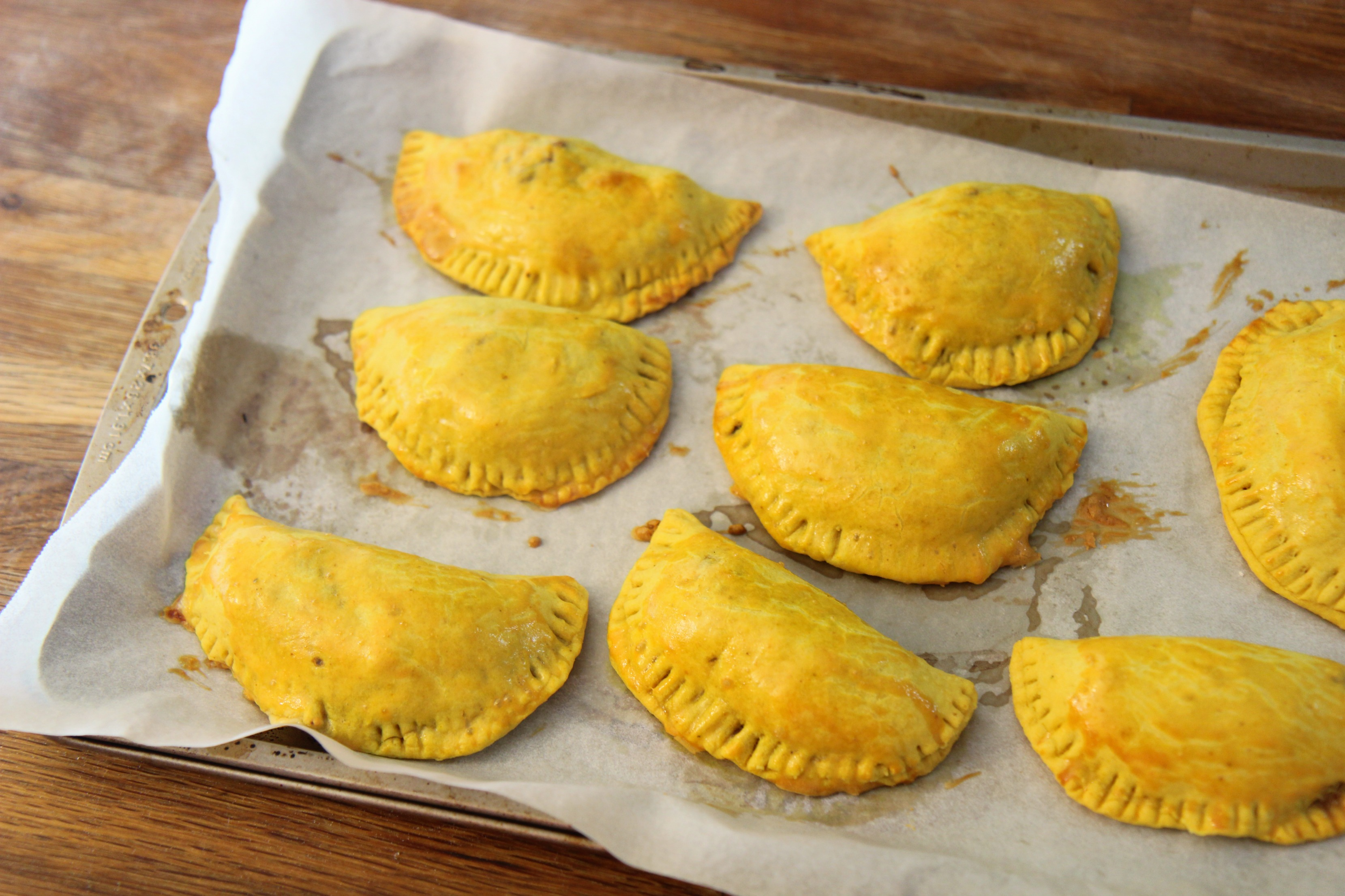 baked Jamaican beef patties