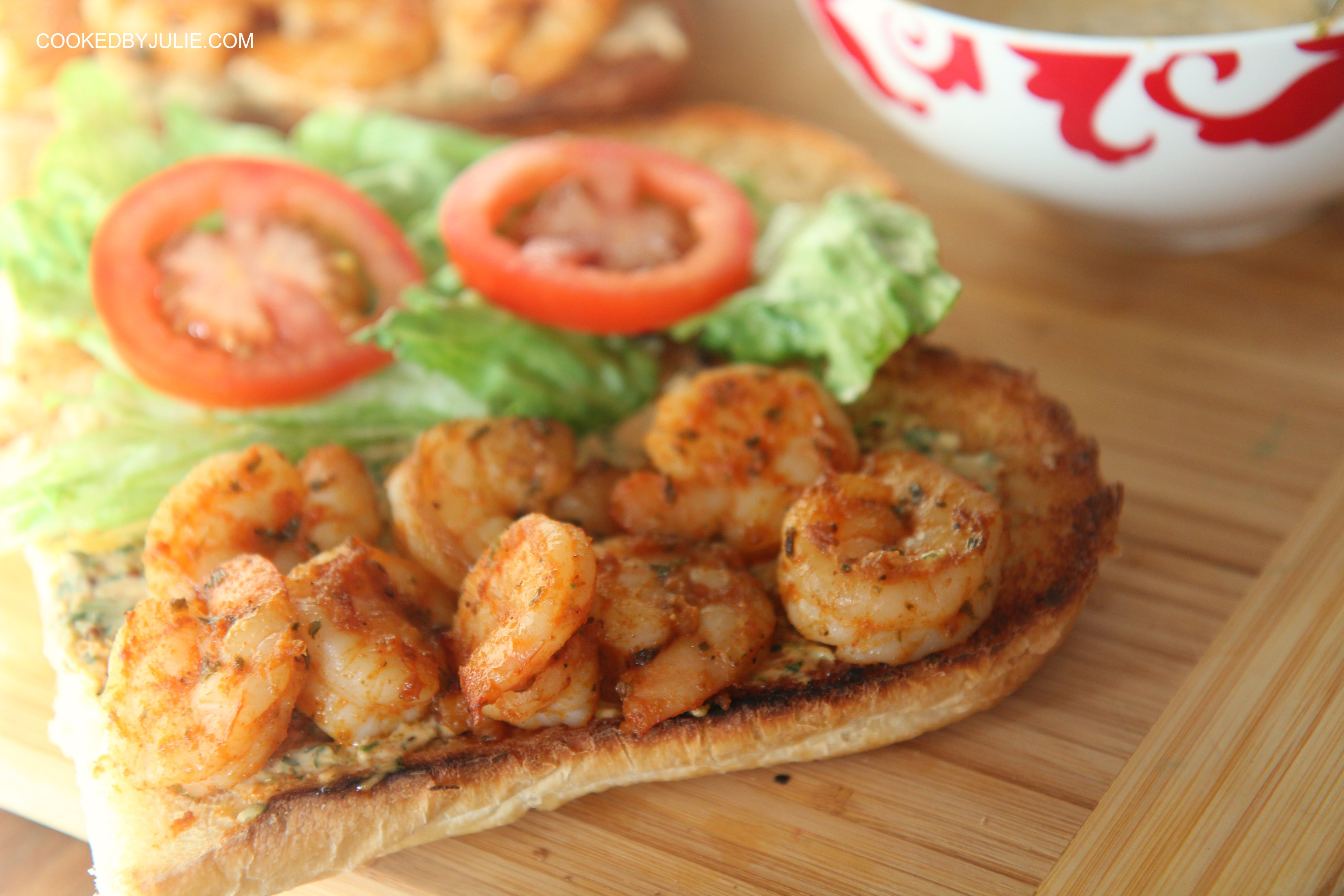 A Creole Treat this po boy is sure to satisfy any crowd.