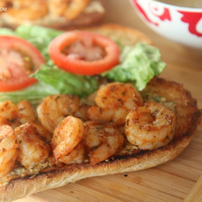 Grilled Shrimp Po' Boy Sandwich