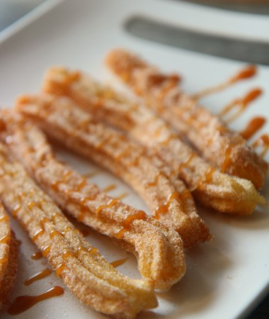 churros on a white dish
