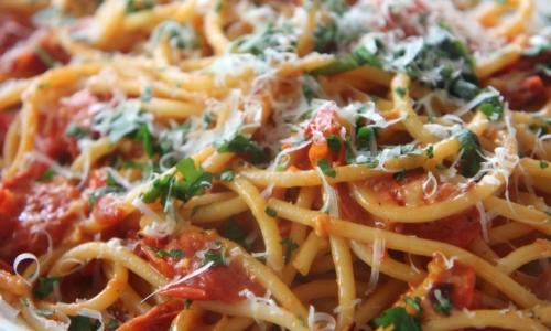 Roasted Tomato Bucatini