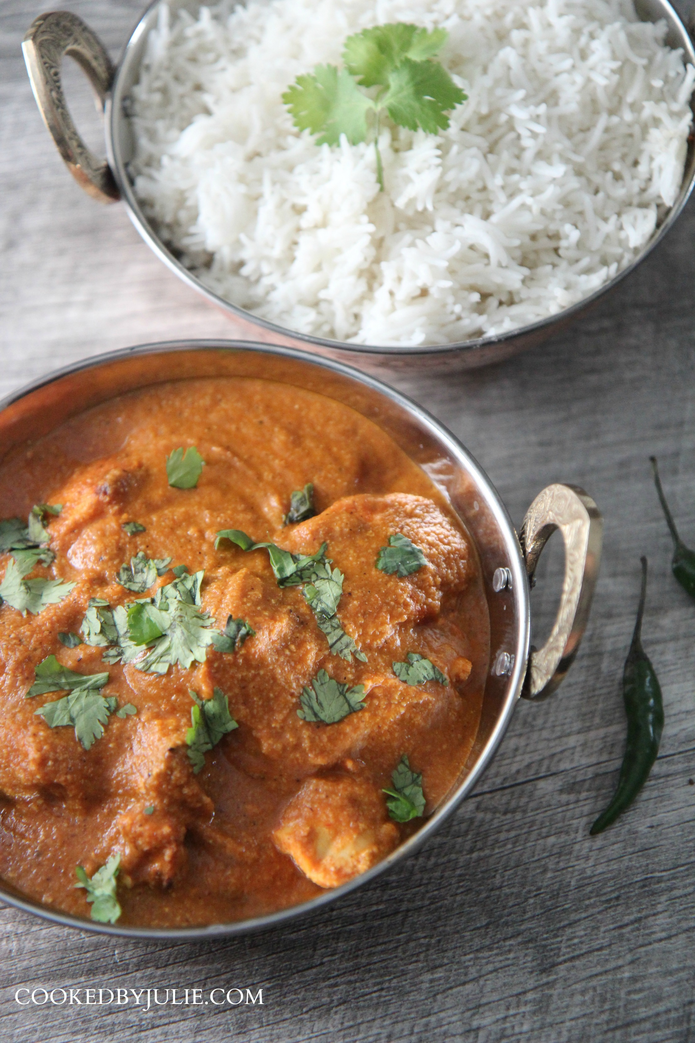 Fresh white rice and Tikka Masala are a great combo.