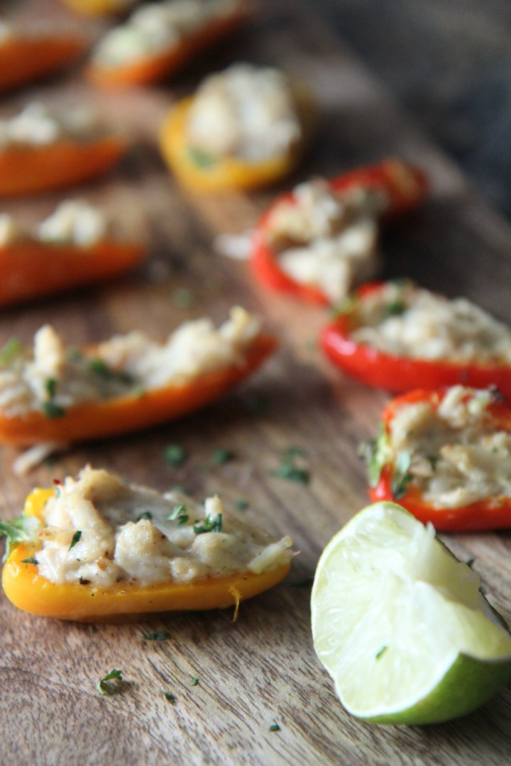 Seafood and spicy bell peppers are a match made in heaven as these appetizers are sure to please.