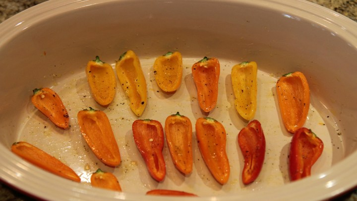 Use cherry peppers as small serving vessels for this recipe.