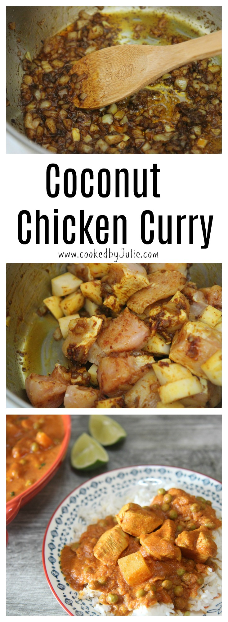 Learn how to make the best Coconut Chicken Curry from CookedByJulie.com