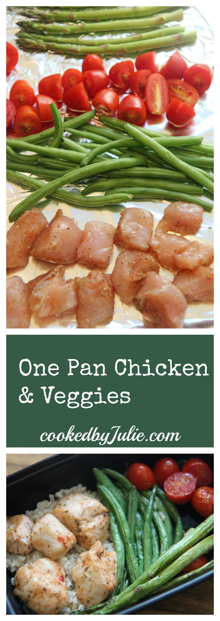 One Pan Chicken and Veggies Recipe with Video from Cooked By Julie