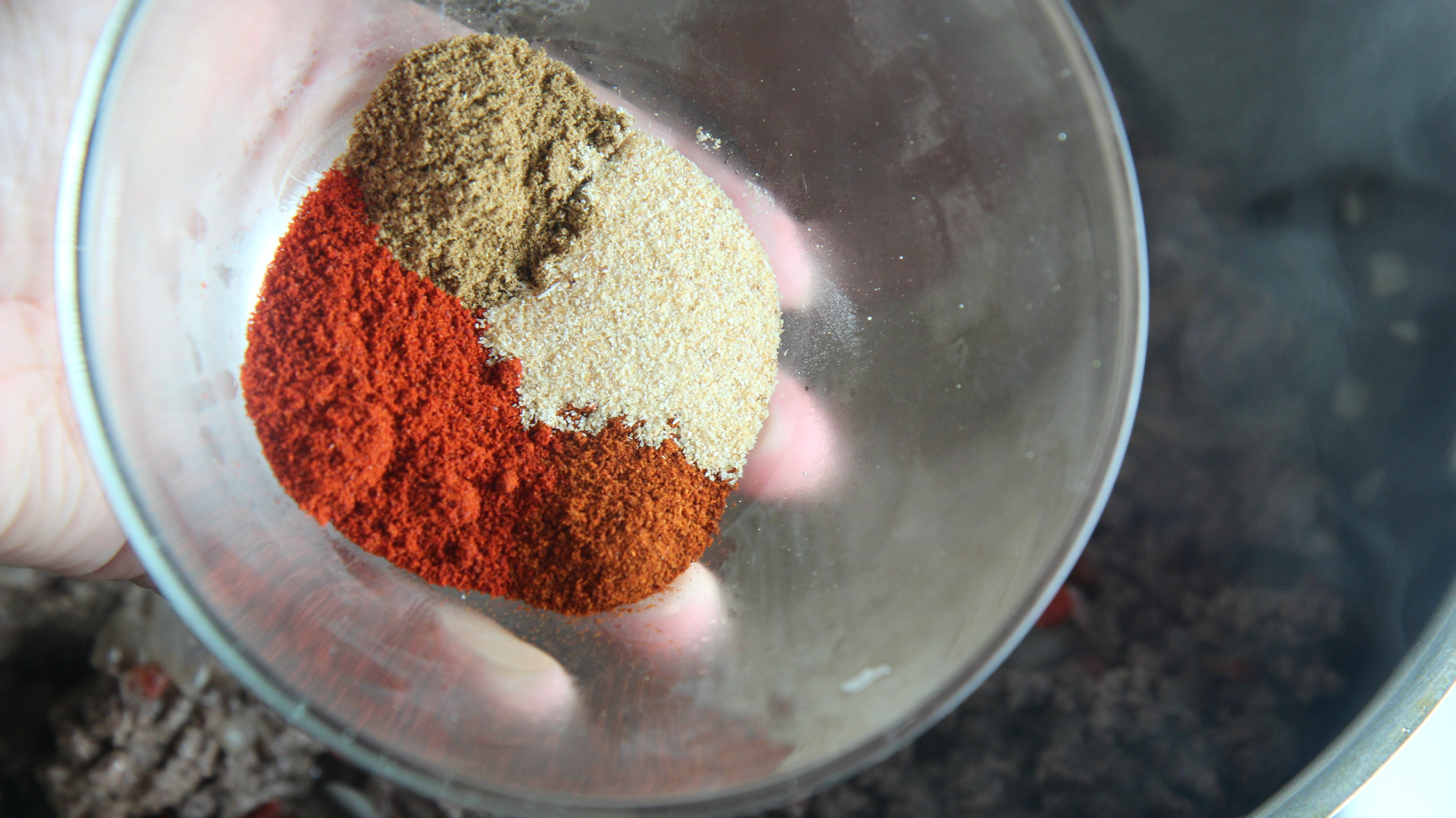 A delicious mix of spices like chili powder, garlic powder and cumin