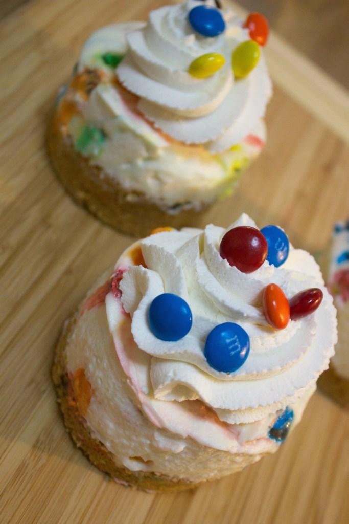 No Bake M&M Cheesecake