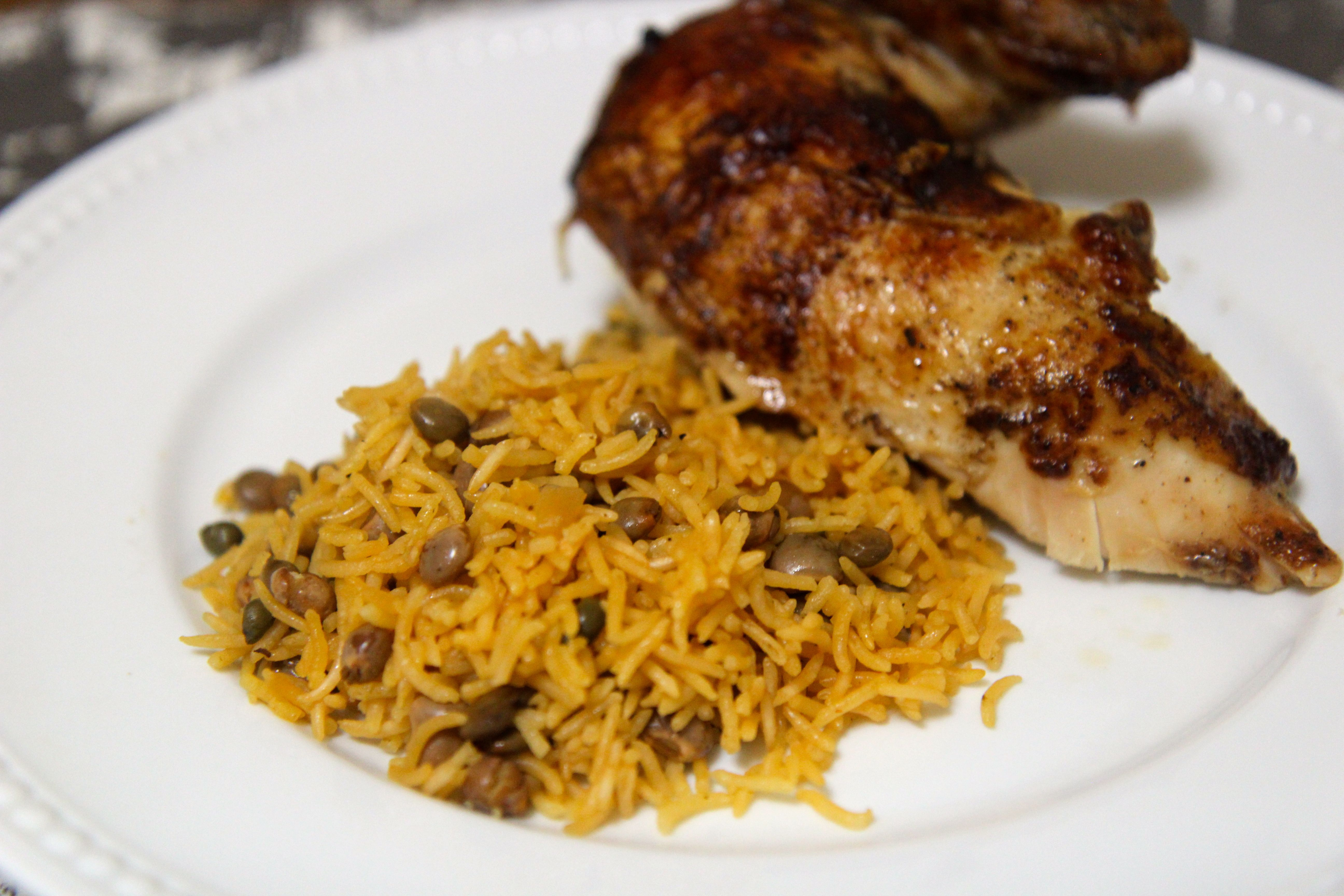 This Arroz con Gandules or Rice & Pigeon Peas recipe is a great dish to serve for the holidays.