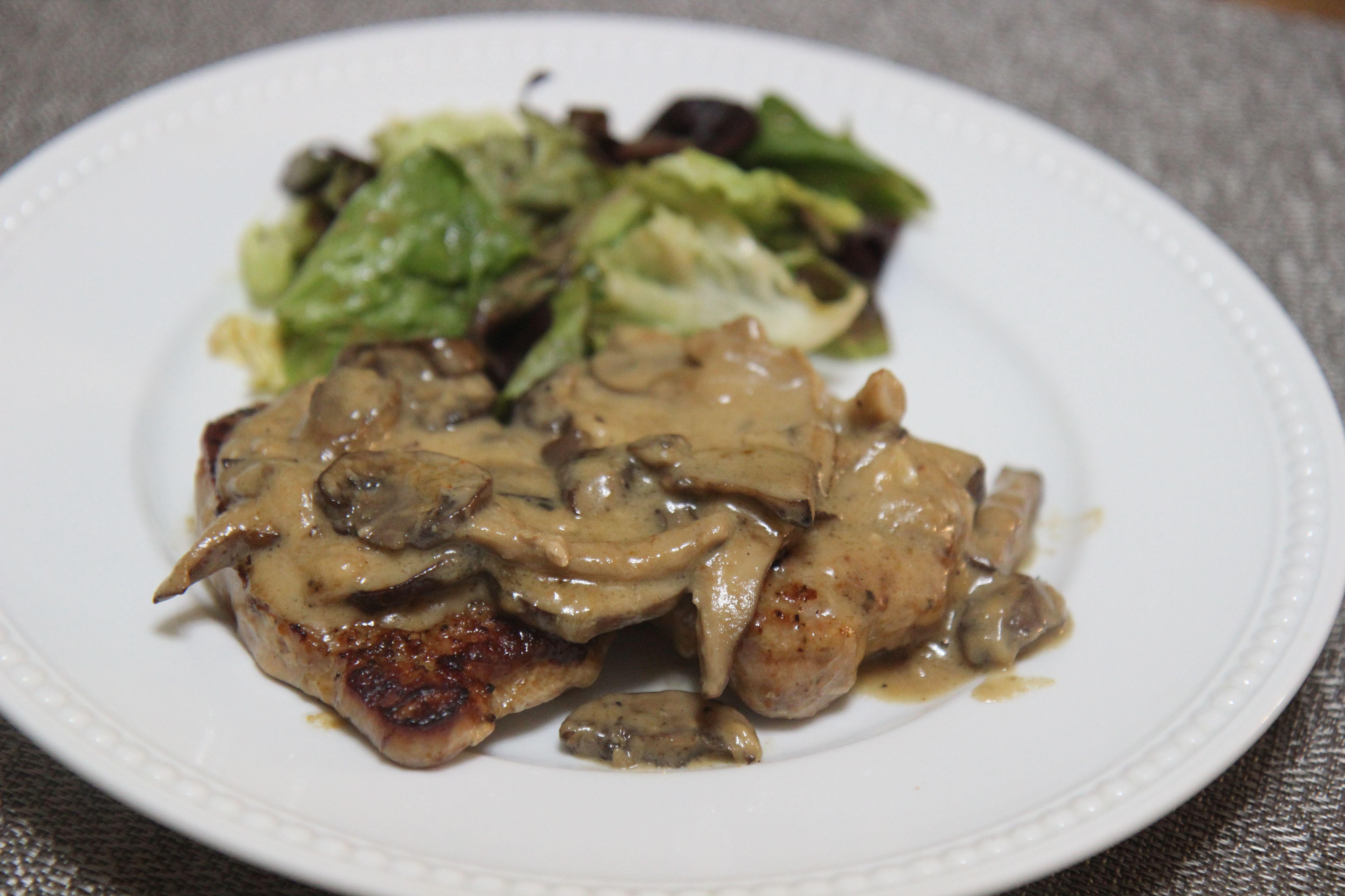 Creamy Garlic Pork Chops | Cooked by Julie