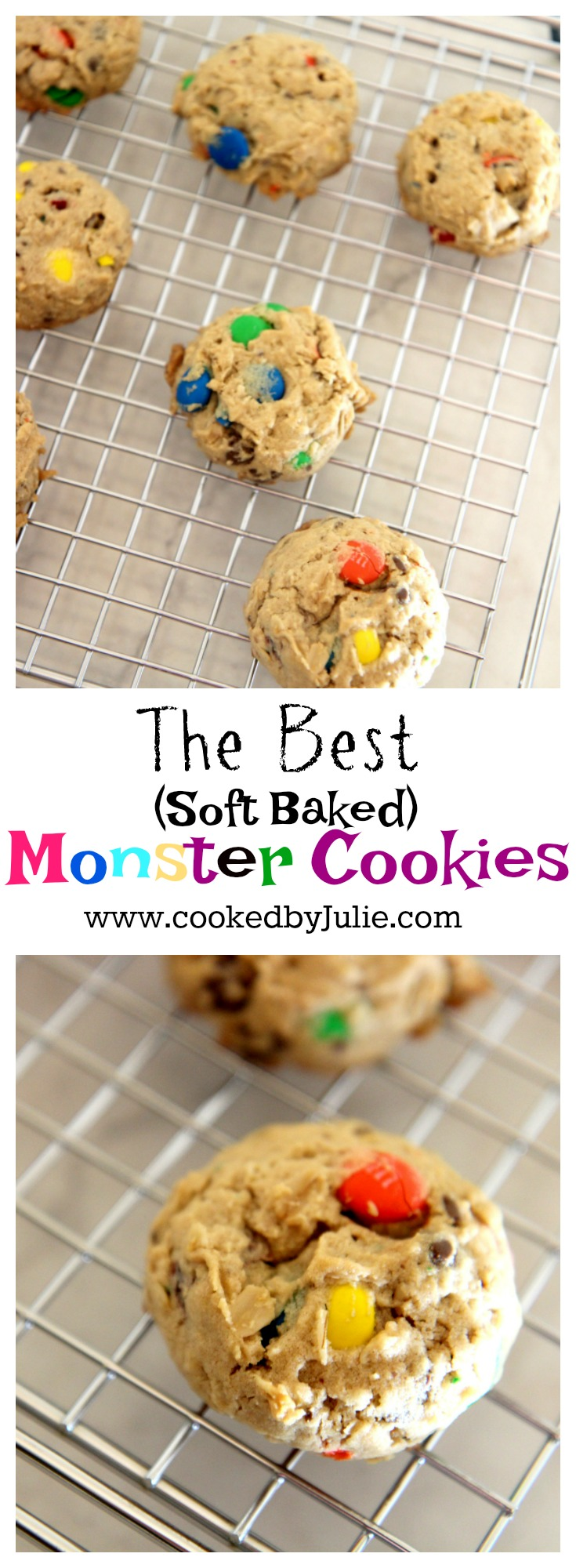 Monster Cookies | Cooked by Julie