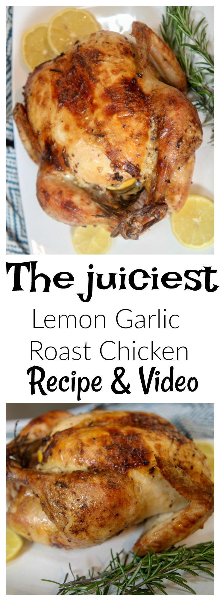 Lemon, Garlic, and Rosemary Roast Chicken