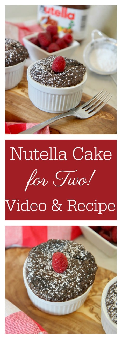 Mini Nutella Cakes for Two | Perfect Date Night Dessert | Cooked By Julie