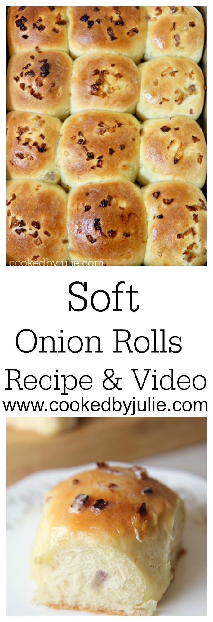 Soft Onion Rolls - Recipe & Video