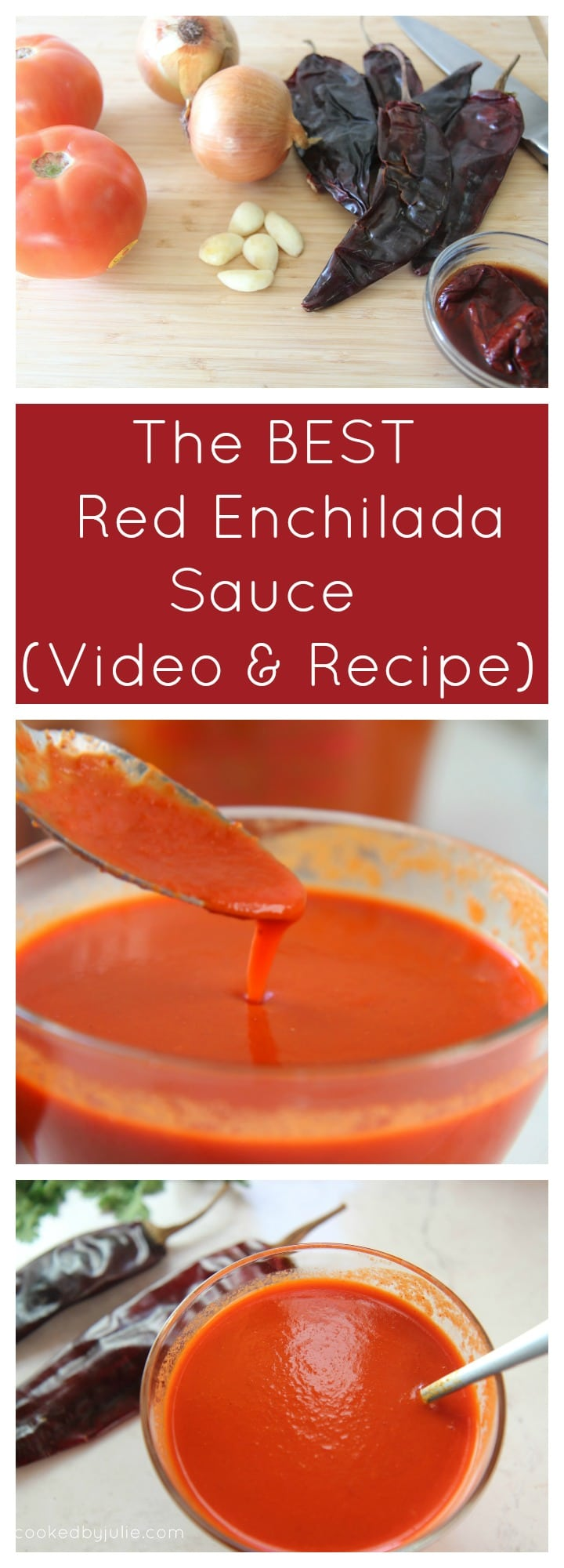 The Best Homemade Red Enchilada Sauce | Recipe and Video from Cooked By Julie