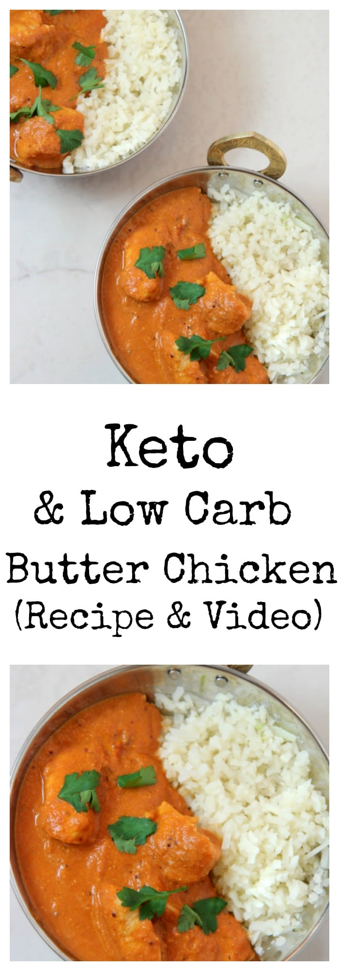 Keto and Low Carb Recipe for Butter Chicken | Recipe and Video from Cooked by Julie