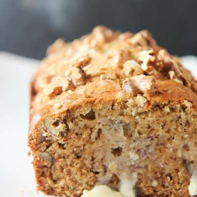 Buttery and Moist Banana Bread with butter