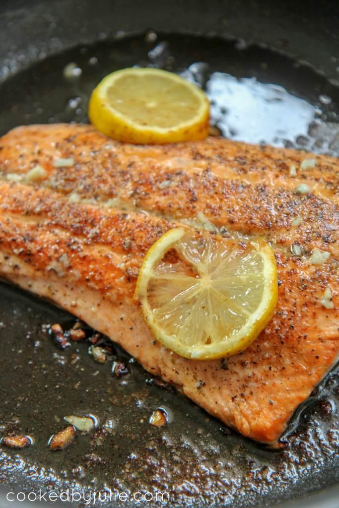 Pan Seared Lemon Butter Salmon