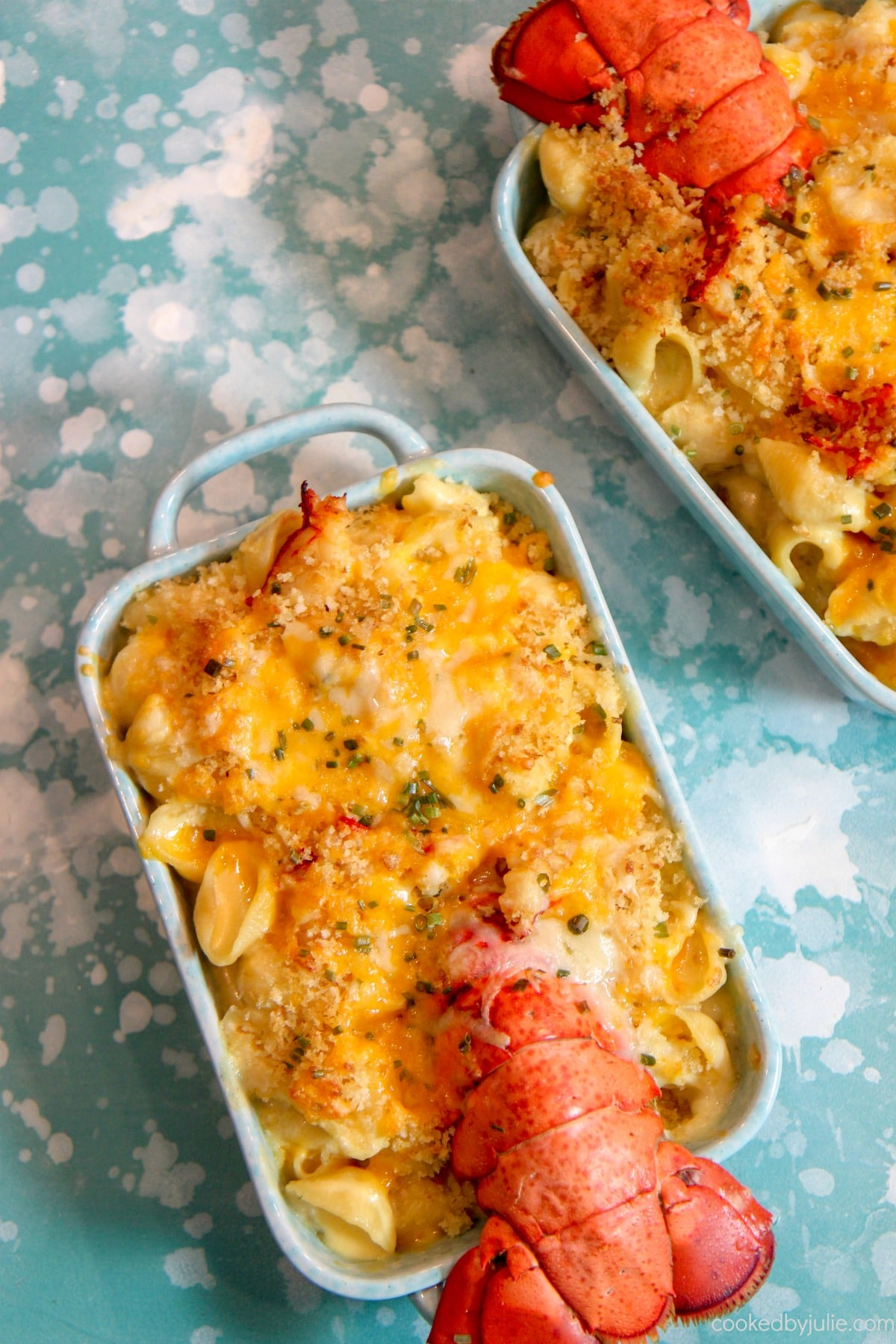 Creamy lobster mac and cheese