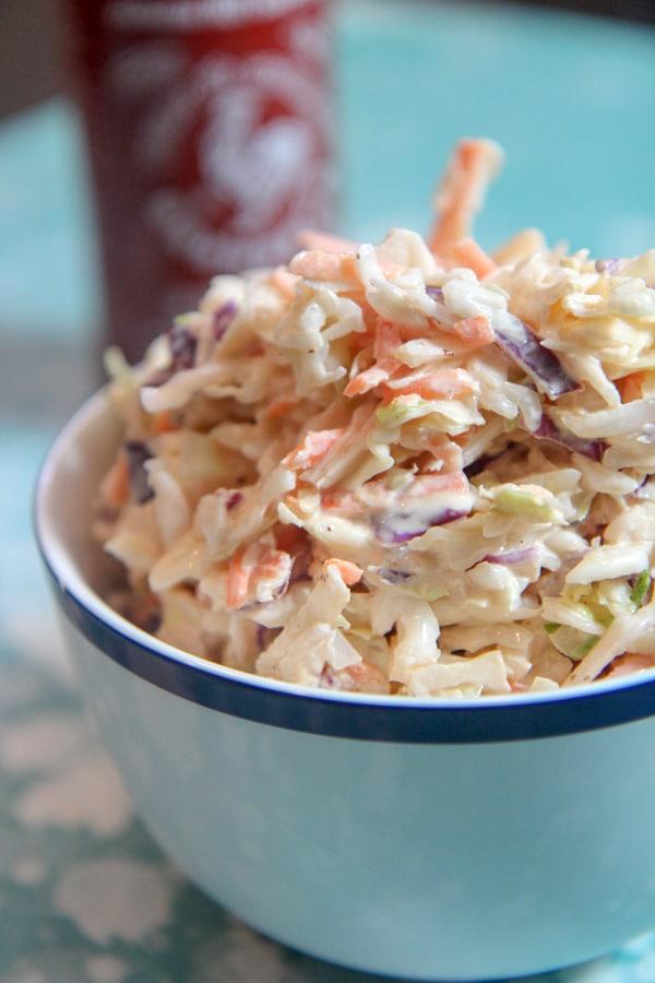 sriracha coleslaw