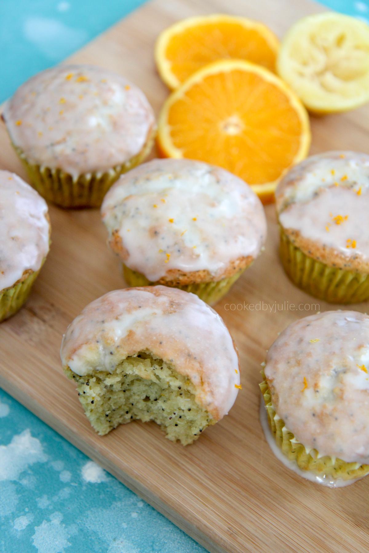 Orange Lemon Poppy Seed Muffins