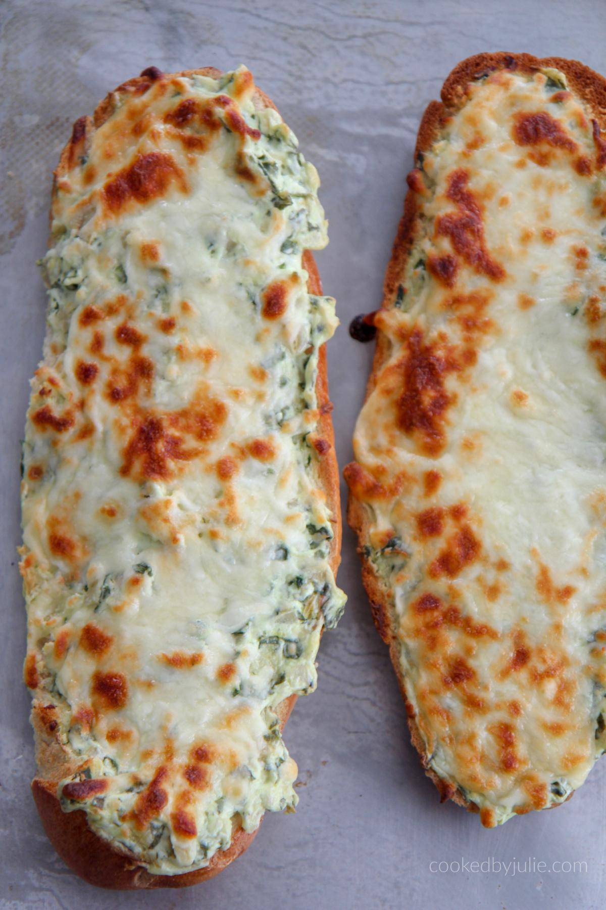 Spinach Artichoke Dip Bread