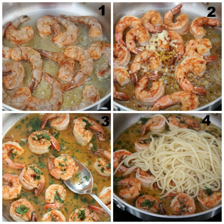shrimp scampi step by step cooking instructions