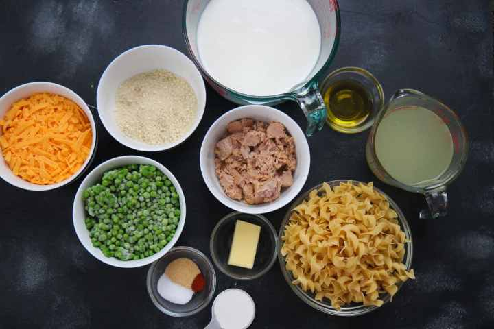 thirteen ingredients in small bowls