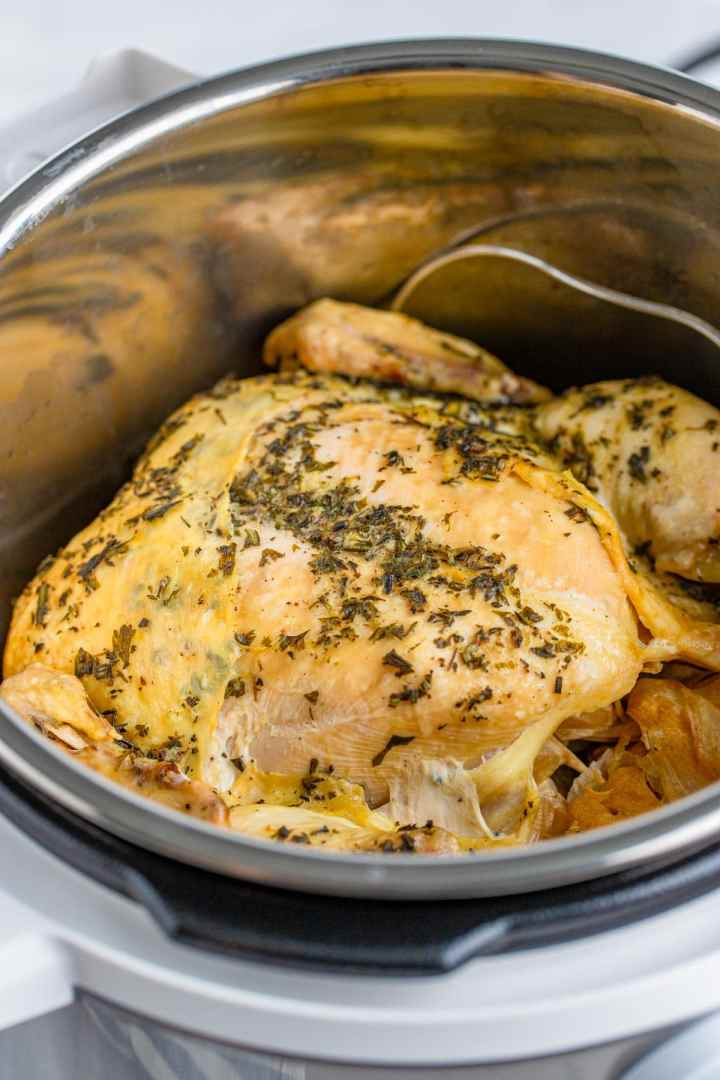 cooked butter and herb chicken.
