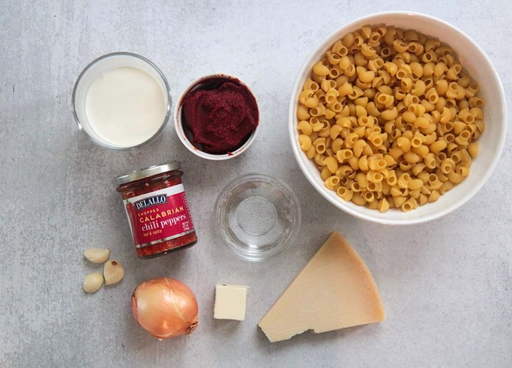 ingredients for carbone spicy rigatoni