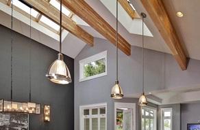 lighting vaulted ceilings