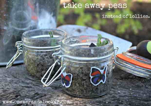 bug party ideas - take home seed in jar