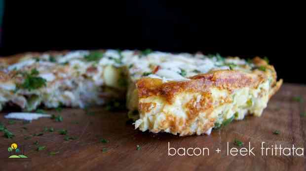 bacon and leek frittata