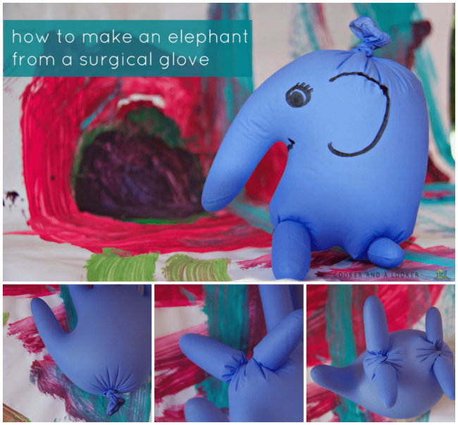 How to make an elephant from a surgical glove: such a great way to calm frightened children. Perfect for doctors, nurses and medical professionals.
