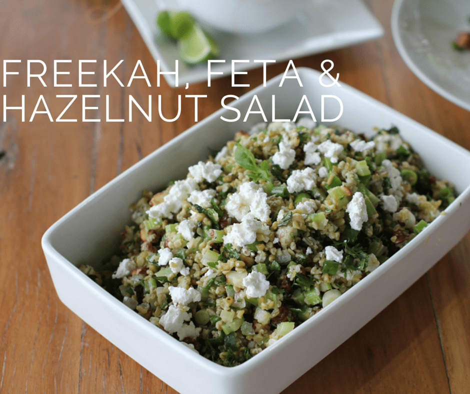 FREEKAH FETTA AND HAZELNUT SALAD FOR FB