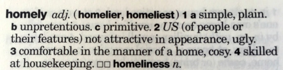 definition of homely