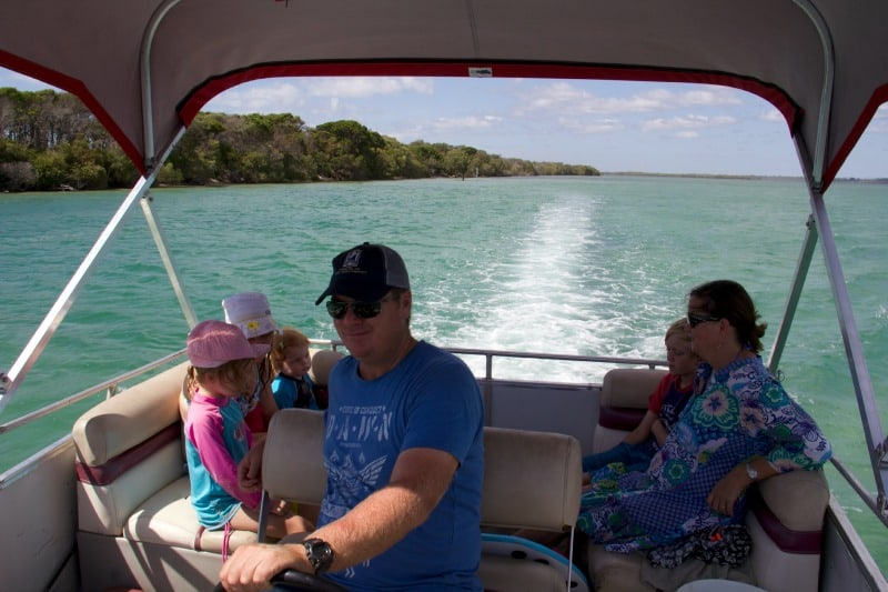 family friendly ideas sunshine coast hire a pontoon boat