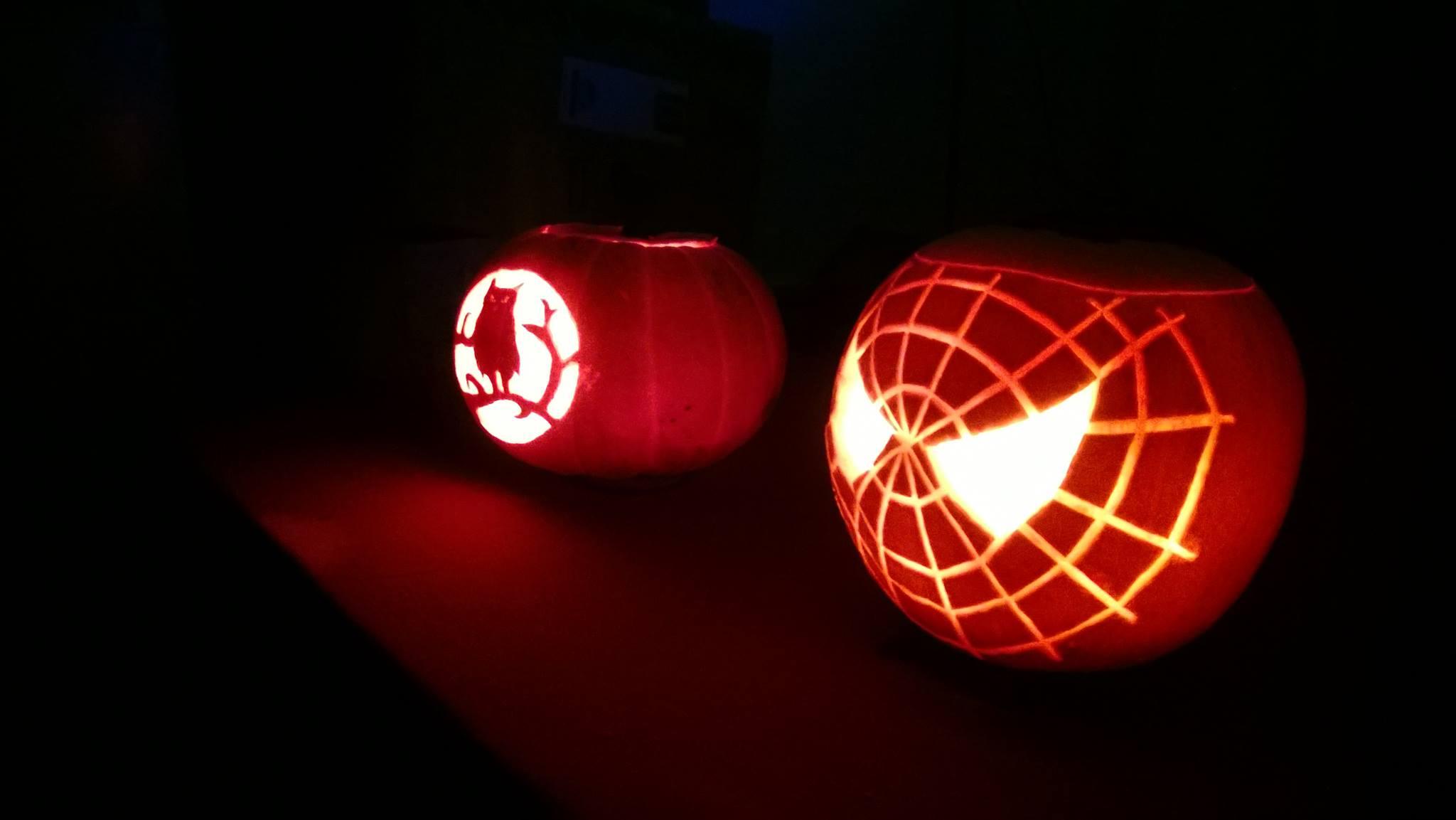 spiderman _owl_pumpkins