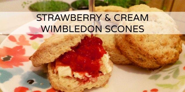 Strawberry & Cream Wimbledon Scones