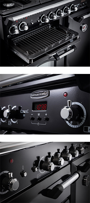 Close ups of the Rangemaster Classic