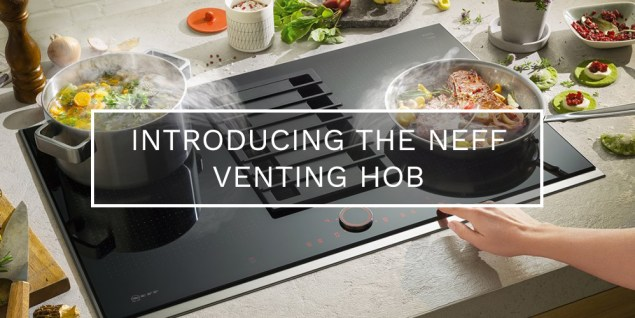 Photo of a Neff Venting Hob being used