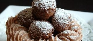 Chocolate truffle cupcake