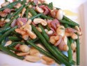 Fine beans stir-fried with roasted nuts