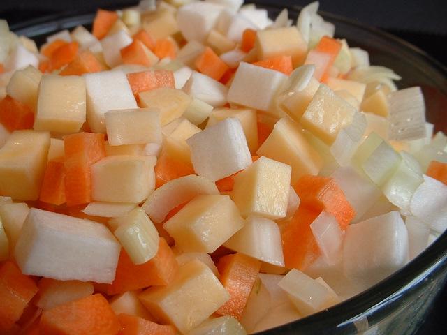 Macedoine of vegetables