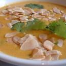 Mild korma and parsnip soup